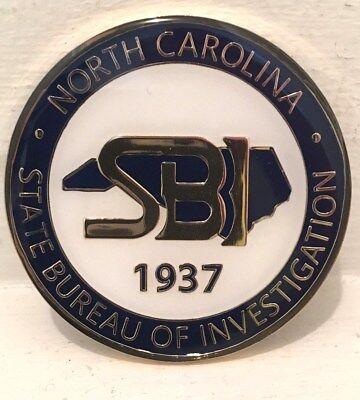 North Carolina State Bureau Of Investigation Challenge Coin Nc Sbi