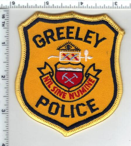 Greeley Police (Colorado) 1st Issue Uniform Take-Off Shoulder Patch