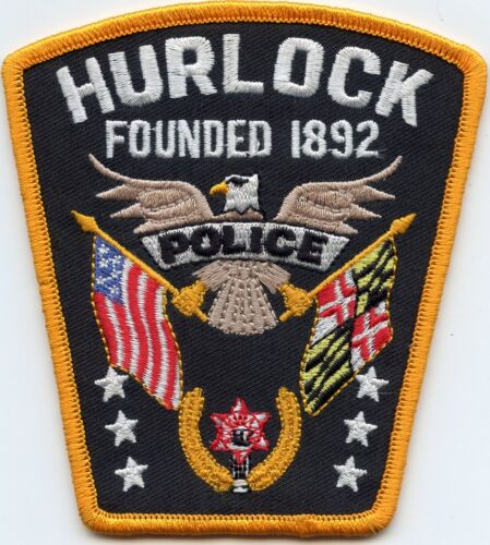 HURLOCK MARYLAND MD POLICE PATCH