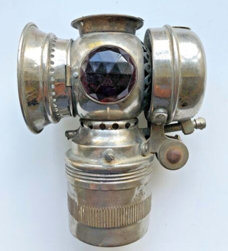 Vintage Solar Badger Brass Bicycle Motorcycle Lamp Light
