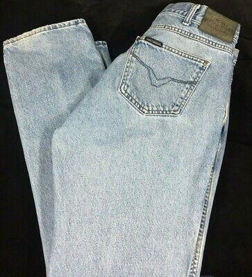 Vintage Harley Davidson Button Fly Blue Jeans 36x32 Cotton Boot Cut Black label Black Label Vintage Jeans
