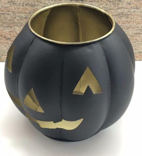 NWT Pottery Barn Jack O Lantern Small Pumpkin Candle Holder HALLOWEEN FALL