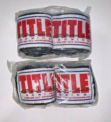 "Title Boxing Classic Advanced Weave Handwraps Black 108"" 2 -"