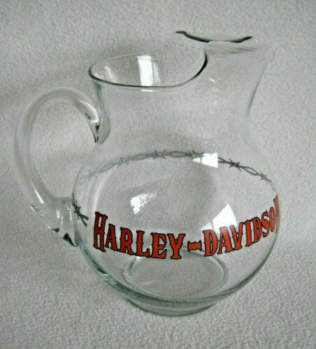 Harley Davidson Large Glass Beer Water Pitcher 88oz