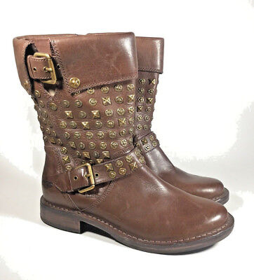 M3708L New Women's Ugg Conor Genuine Sheepskin Studs Moto Boot US 6, used for sale  Nolensville