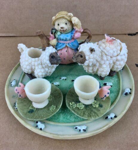Popular Imports Decorative Miniature Tea Set Design Grazing Sheep Pasture 10 Pcs