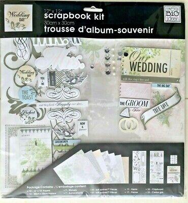Big Ideas Wedding Day Scrapbooking Album Kit Scrapbook 12 x 12 Pages Embellish Big Ideas Page Kit