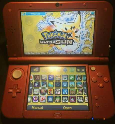 New Nintendo 3DS XL Handheld System Red w/ 70+ 3DS Games (Pokemon, Mario, Zelda)