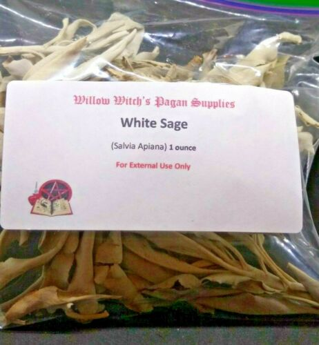 White Sage Leaf & Clusters 1 oz Wicca Incense Smudging Witchcraft Hoodoo Voodoo