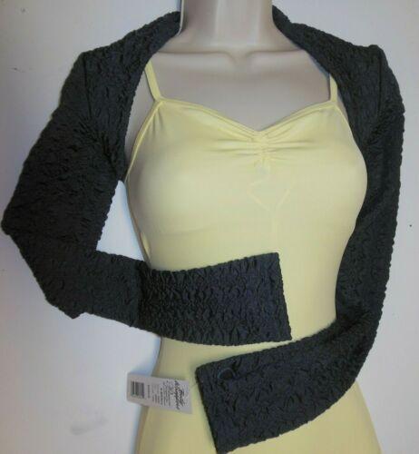 Textured Charcoal Ballet Shrug P407 BodyWrappers Ladies sizes soft thumbhole