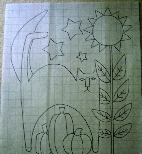 Primitive Rug Hooking Pattern- Hello Pumpkin