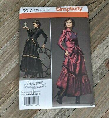 Simplicity Sewing Pattern #2207: Steampunk Cosplay Dress : Sz 14, 16, 18, 20