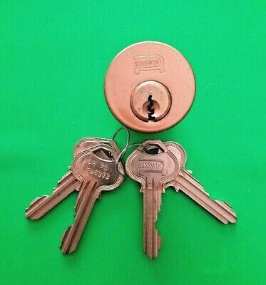 Corbin Russwin 6-pin Mortise Cylinder H1 Keyway 612 4 Keys Nos Locksmith