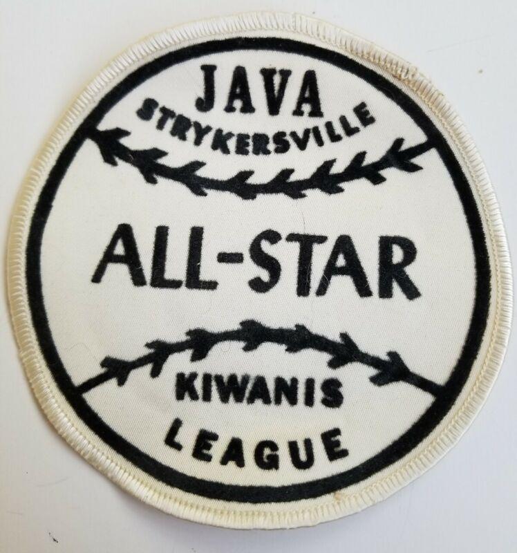 Vtg Kiwanis League Java Strykersville NY All-star baseball softball Patch