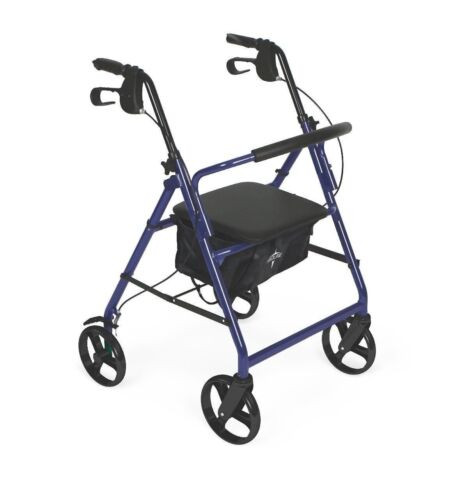 Medline Lightweight Rollator Medical Mobility Folding Walker