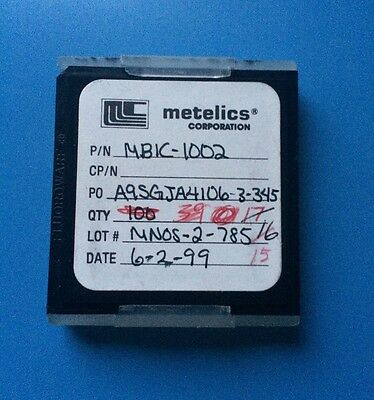 Mbic-1002 Metelics Capacitor Chip Rf Microwave 15units