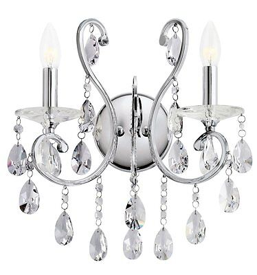 Kichler Classic  Wall Sconce 2 Light Fixture Chrome