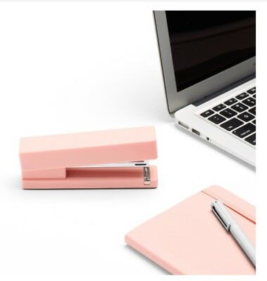 New Poppin Stapler Pink Blush Office Desk Accessory 20 Sheet Capacity Heavy Duty