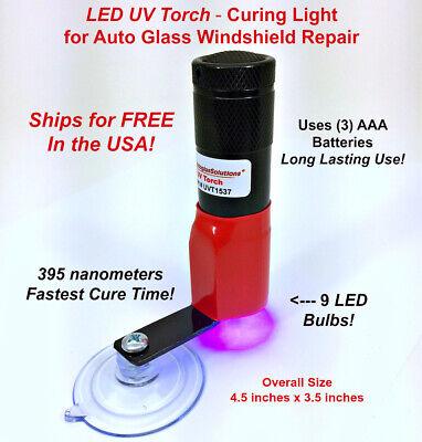 LED UV Cure Lite Ultraviolet Black light for Auto Glass Windshield Repair Kit