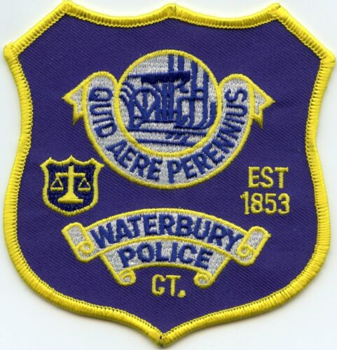 WATERBURY CONNECTICUT CT POLICE PATCH