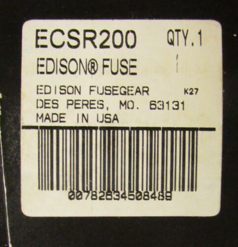 EDISON BULLET ECSR200 Dual Element 600V 200 AMP Time Delay Fuse