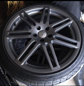 """Audi 19""""rep wheels and tires"""