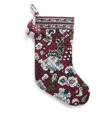 - Vera Bradley Holiday Stocking Ornament Set Bordeaux Blooms NWT UPC:886003544013