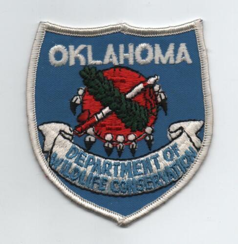 Oklahoma Dept. Of Wildlife Conservation Uniform Patch, Shield Design, Mint