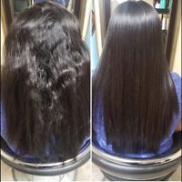 Permanent hair straightening Rebonding