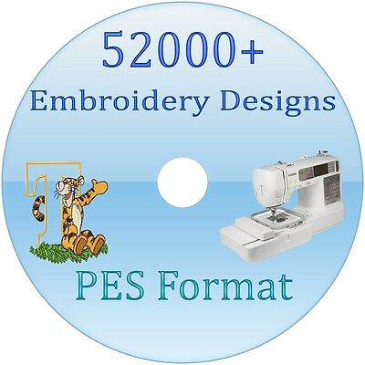 Machine Embroidery designs 52000 PES Files brother