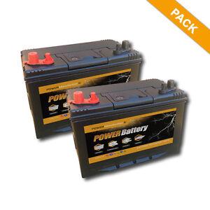 Batteries camping car decharge lente 12v 120ah 500 cycles de vie