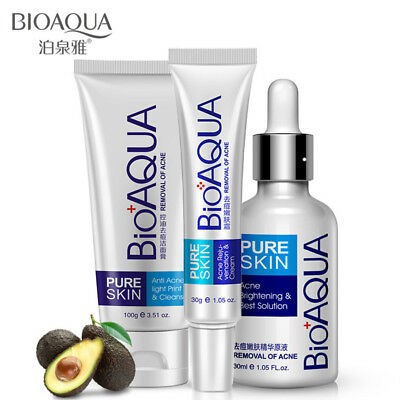 BIOAQUA Face Acne Treatment Scar Removal Spots Whitening Oil Cream Blemish Marks