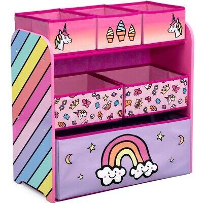 Kinderregal mit Boxen Spielzeug Regal Spielzeugkiste Kinderzimmer rosa