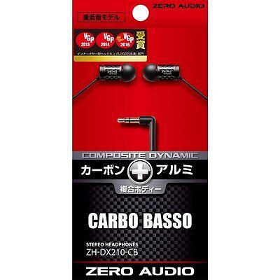 ZERO AUDIO Official ZH-DX210-CB Inner-ear Stereo Headphone Carbo Basso Japan F/S