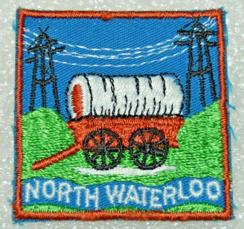 NORTH WATERLOO DISTRICT Hydro Wires Crossed Boy Scout Uniform Badge Cdn. (ONN3F)