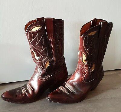 Herrenstiefel, Stiefel Gr. 45, weinrot-bordeaux , Lederstiefel, Cowboystiefel_
