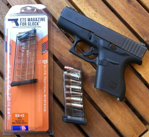 ETS 7 Round Flush Fit Mag For Glock 43 - 100% Reliability