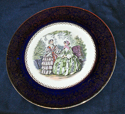 "Lovely Imperial Service Plate, Salem China Co. Victorian Ladies 10 3/4"" Plate"