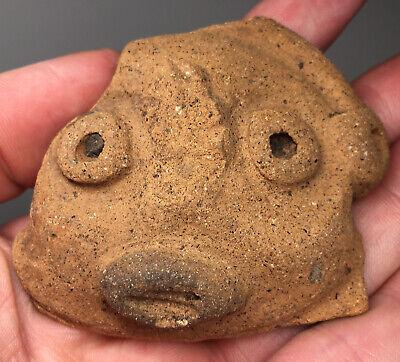 Pre-Columbian Amphibian Terracotta Pottery Red Pigment Adorno Fish Frog Fragment