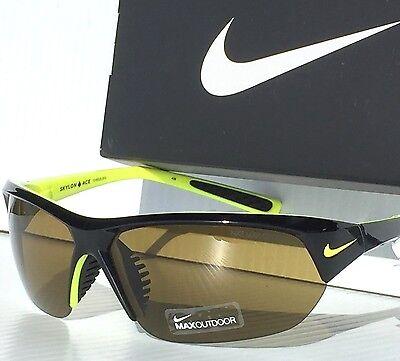 NEW* NIKE Black Polished w Bronze Lens SKYLON ACE Sunglass EVO525 073