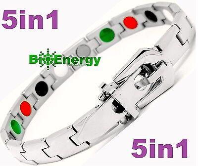 Titanio magnetico energia germanio bracciale Potenza Bracciale Salute Bio 5in1