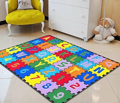 ABC Letters Numbers Kids Educational Play Mat Rug Carpet For School Classroom