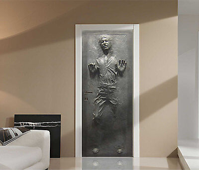 Han Alone in Carbonite Star Wars Repositionable Life-Size Wall Vivid-LAMINATED