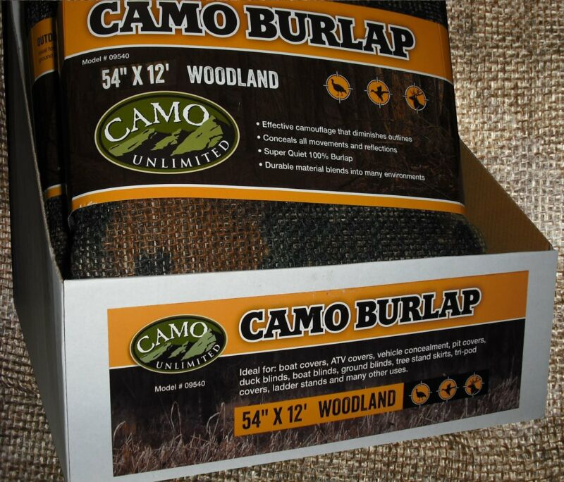 Camo 9540 Burlap Woodland 54x144