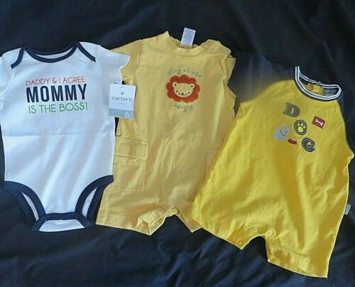 Lot Of Carters Gymboree Baby Boys 6-12 Months Rompers One Piece Shortalls