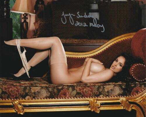 JACLYN SWEDBERG 2012 PLAYBOY PLAYMATE OF THE YEAR SEXY SIGNED PHOTO  (IN1)