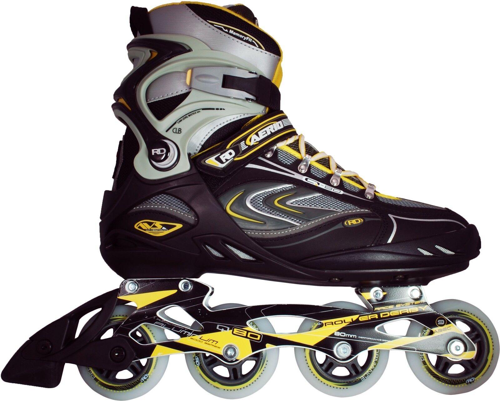 Roller Blades - Roller Derby I258 Aerio Q80 - Men Inline Skates Sizes 6-13