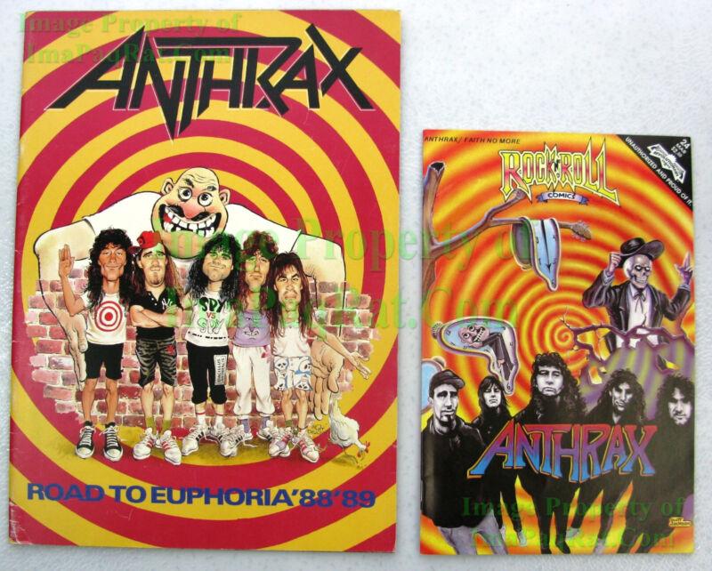 ANTHRAX Concert Program ☆ Mort Drucker Art Spy vs Spy ☆ Road To Euphoria 88 89
