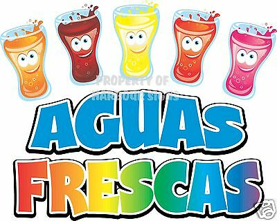 Aguas Frescas Drinks Restaurant Cafe Menu Concession Food Truck Van Decal 14