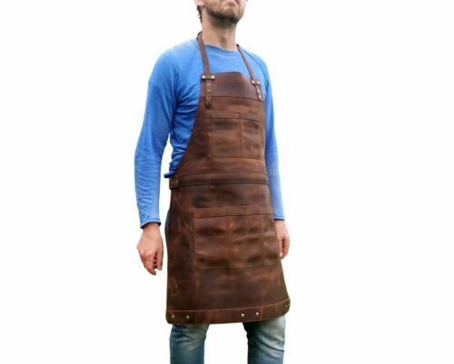 NOORA Leather Apron Full Leather Butcher Apron For Hobbyists Woodwork Blacksmith